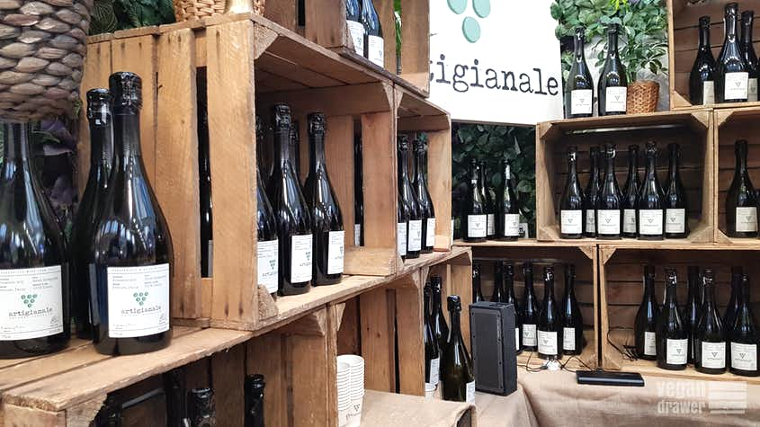 Artigianale Prosecco Display at Vegan Life